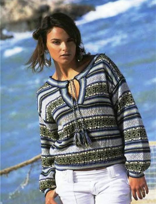 жаккард.пуловер (535x700, 382Kb)