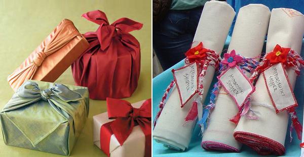 как упаковать подарок схема