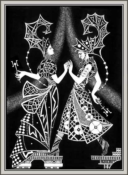 """Схема вышивки  """"Танец девы """": схема."""