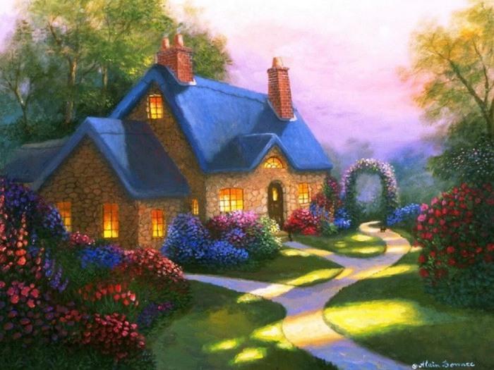 Фото домов рисунки