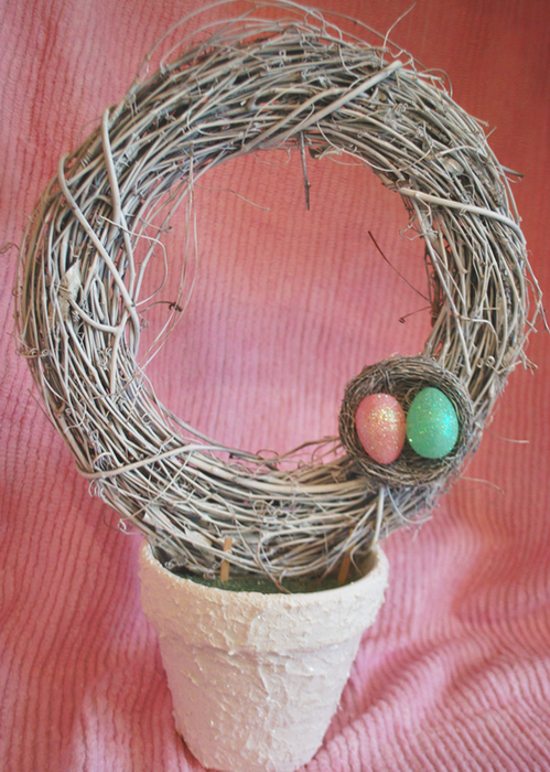 Easter Wreath Topiary- Nest on wreath (499x700, 644Kb)