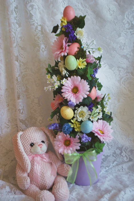 Egg Topiary- With Bunny (469x700, 525Kb)