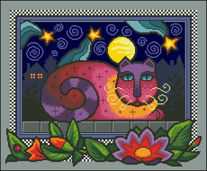 Dim Fabulous Feline (690x570, 333Kb)