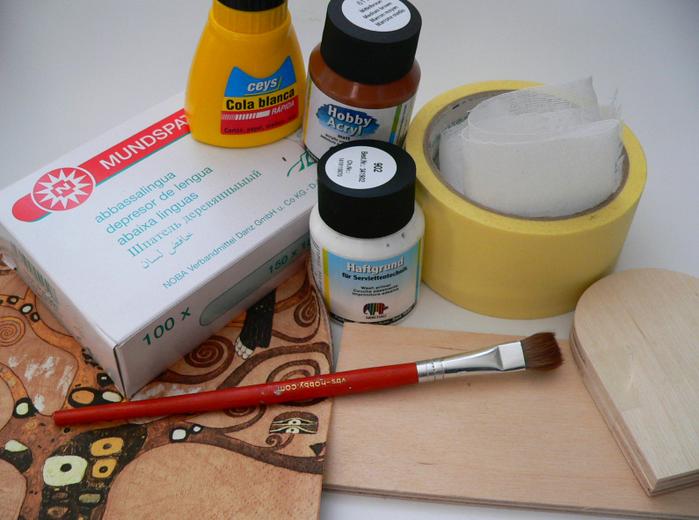 Создание коробочки из медицинских шпателей