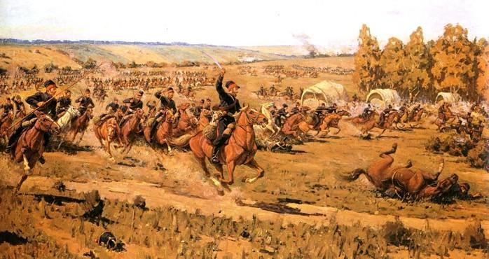11 казаки - обходной маневр при Бородино (700x370, 108Kb)