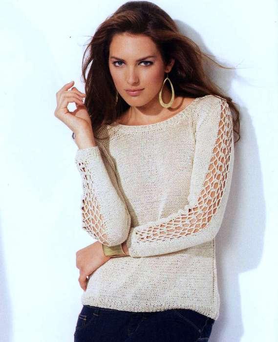 Вязаные свитера спицами со схемами 4