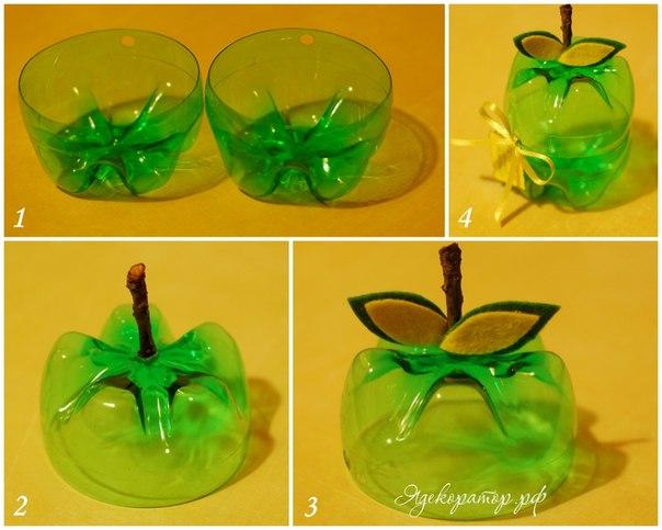 Несложные поделки из пластиковых бутылок своими руками пошагово