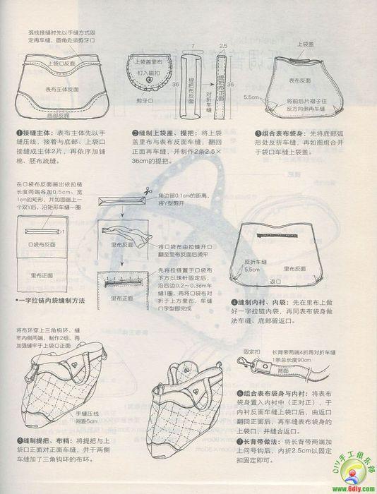Выкройки сумок журналов