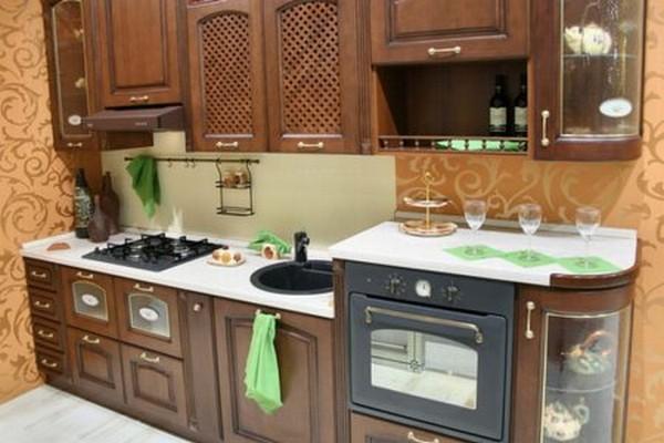 интерьер угловой кухни фото