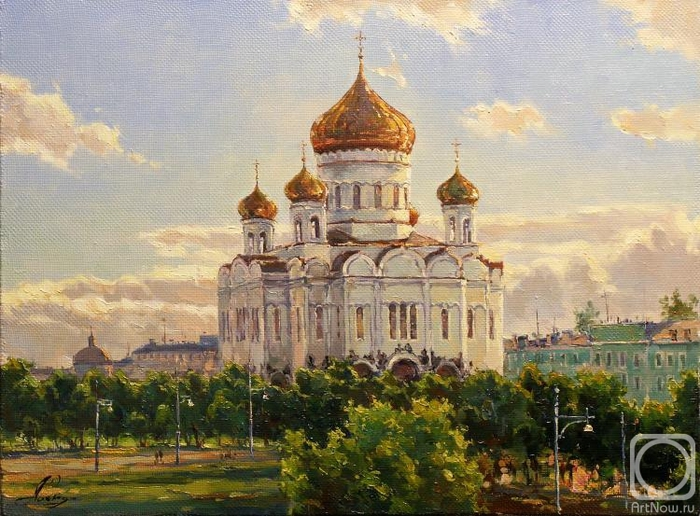 И Православный Крест России Над ними гордо воссиял, И храм, великую...  И белокаменною мощью, Храм над Москвой...