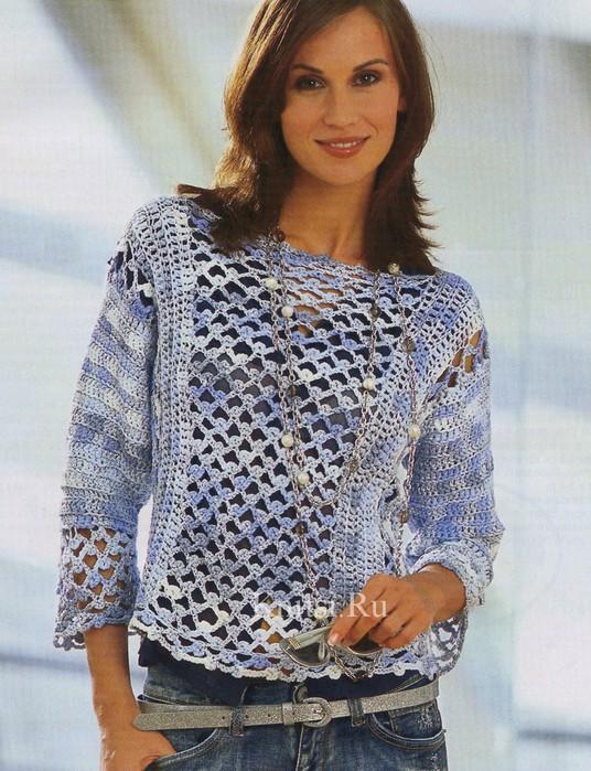 Вязанные свитера меланжевые