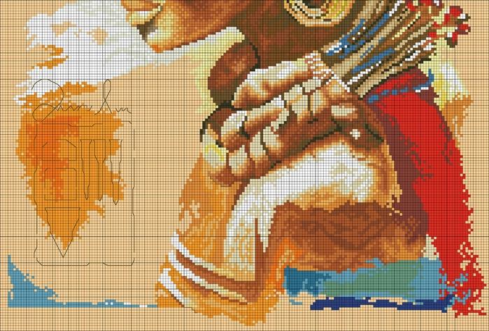 Схема вышивки африканка ланарте 99