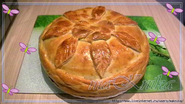 Курник с курицей и картошкой с блинами пошаговый рецепт с
