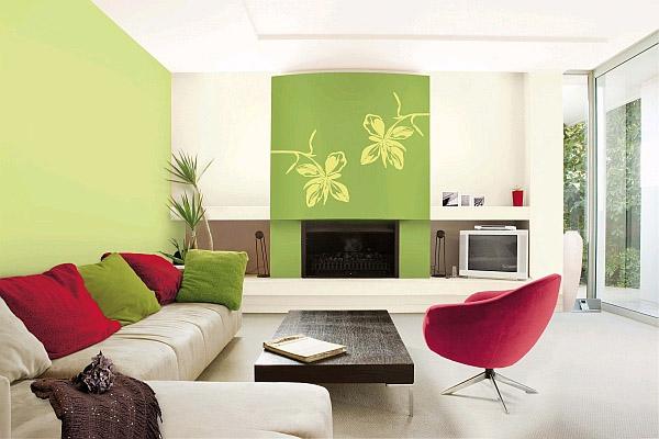 зеленый на белом фоне