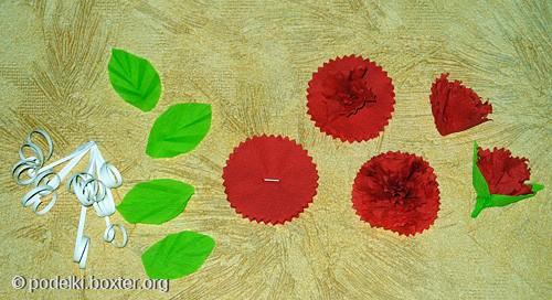 Как сделать гвоздику из салфетки своими руками