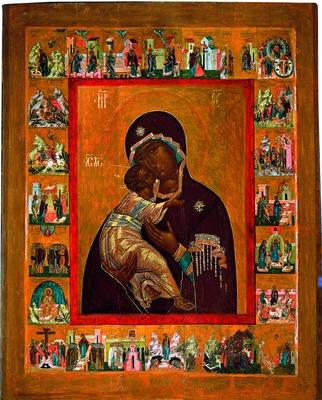 Владимирская икона Божией Матери (422x500, 85Kb)
