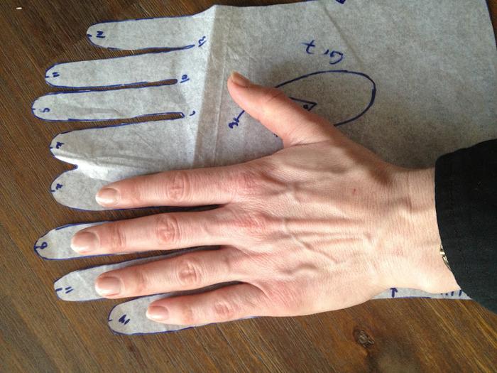 Длины перчатки своими руками 85