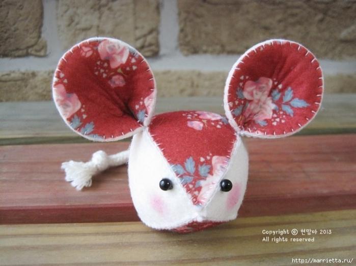 Мышки из декоративного войлока (14) (700x524, 224Kb)