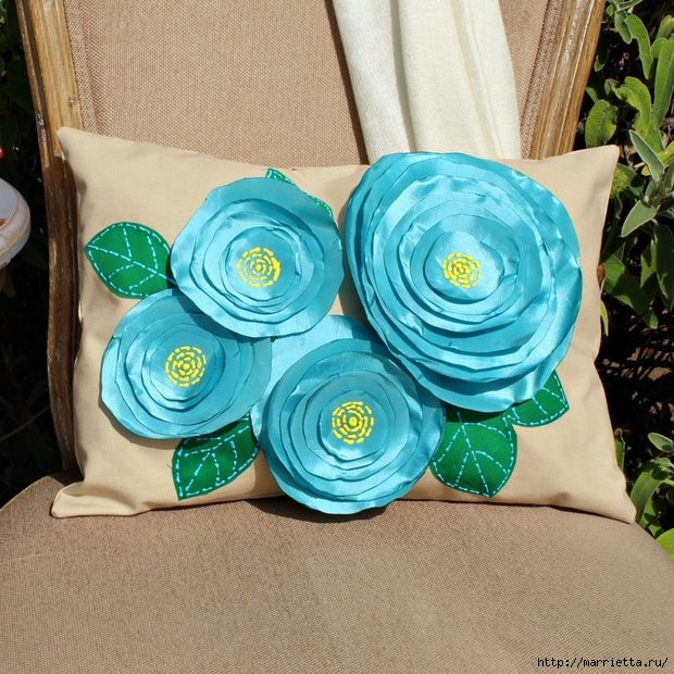 Цветочная подушка своими руками (2) (620x620, 263Kb)
