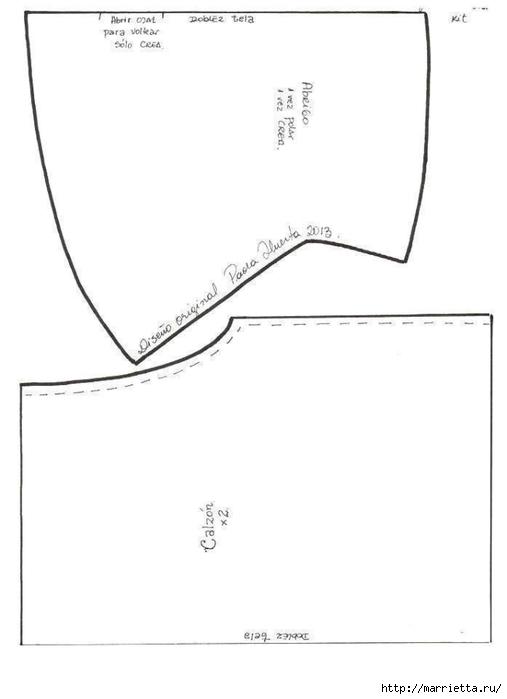 Шьем куколку Diana в одежде и с сумочкой (2) (507x700, 54Kb)