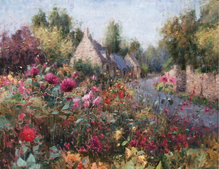 Impressionizm-E.J.Paprocki.-Kartina-English-Garden-Chipping-Campden.-36h48-dyuymov-holst-maslo (700x542, 93Kb)
