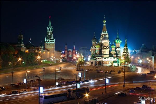 НОЧЬ кремль и блаженный (600x400, 65Kb)