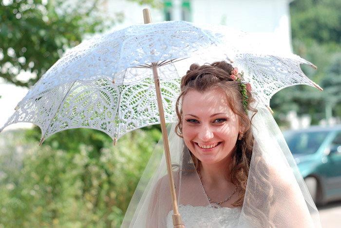 Зонтик для невесты