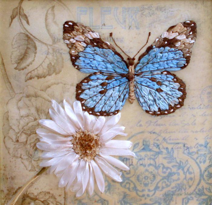 Винтажная бабочка.