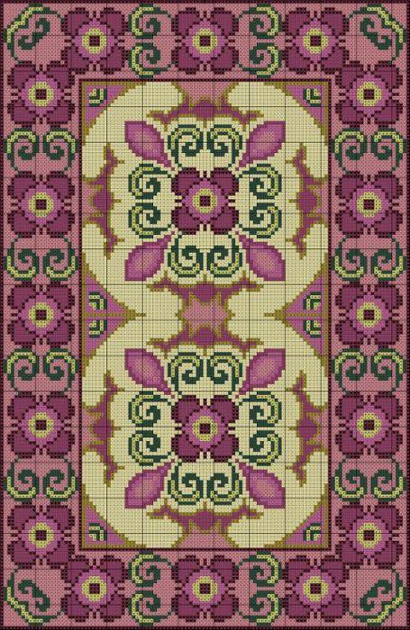 Схемы для вышивки коврика крестом 307