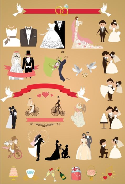 Клипарт свадебный на прозрачном фоне. 67 png.