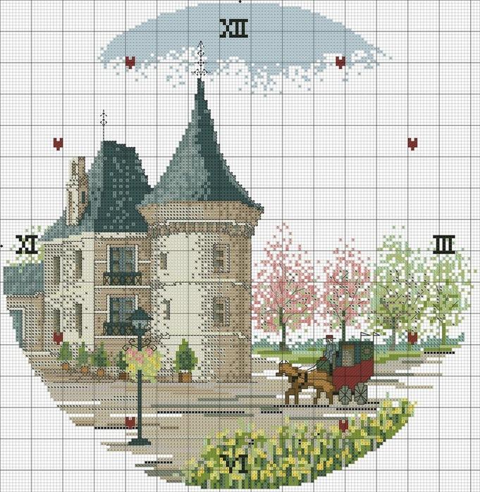 Схемы вышивки циферблатов для
