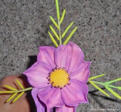 Нежные цветы из сахарной мастики для торта (7) (500x461, 131Kb)