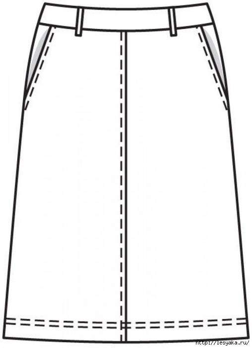 Выкройка летней расклешенной юбки