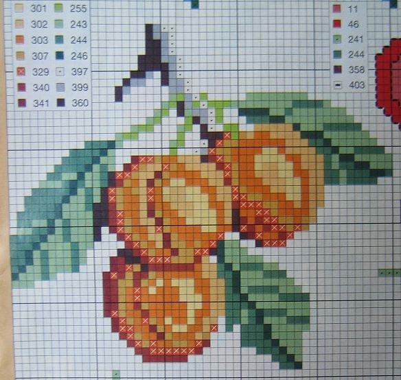 Часть 16 - Вышивка: яблоки и