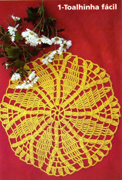 Салфетки крючком Схемы вязания