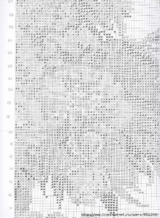 Вышивка крестом ливинтернет дневники