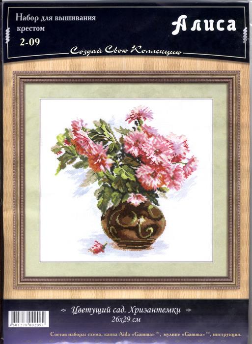 Алиса #2-09 -  Цветущий сад. Хризантемки (513x700, 135Kb)