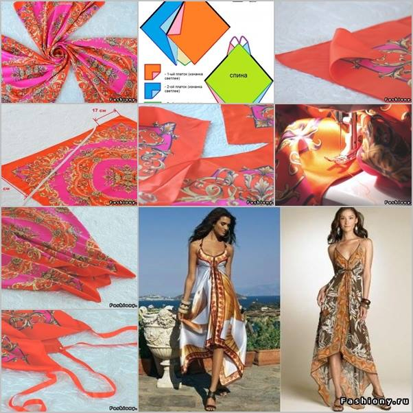 DIY-maxi-beach-dress-from-silk-scarf (602x602, 360Kb)