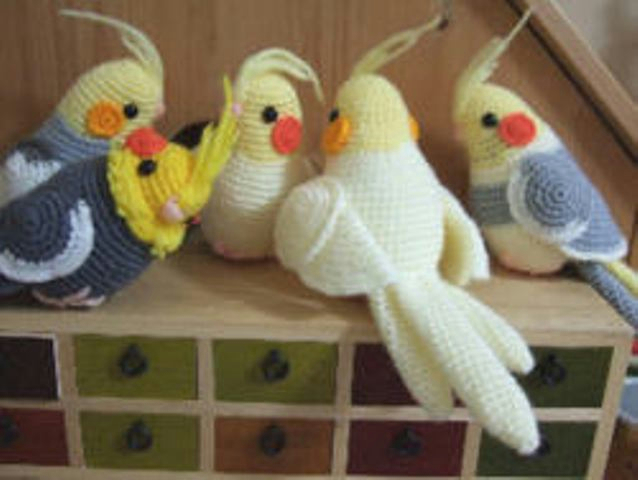 Вязание крючком для птиц 909