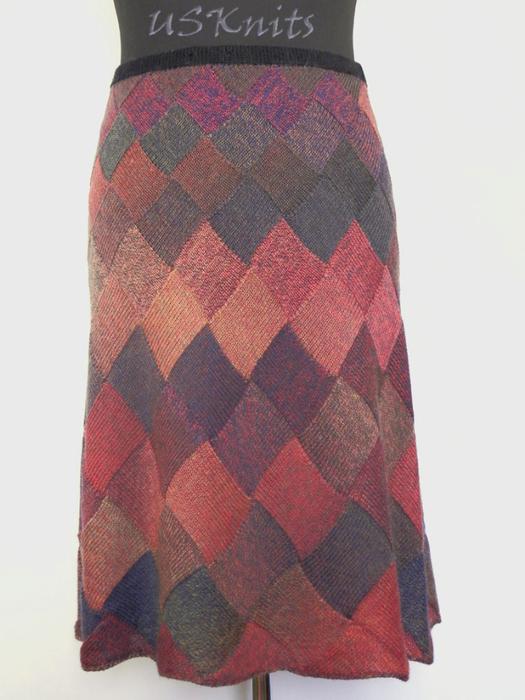 Схема теплой вязаной юбки