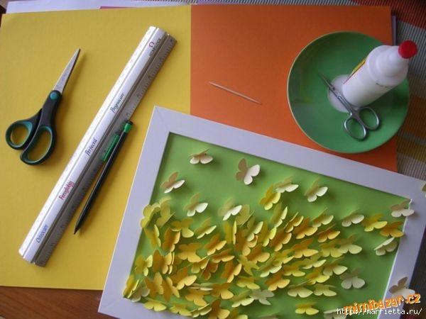 Панно с бабочками из бумаги (4) (600x450, 133Kb)