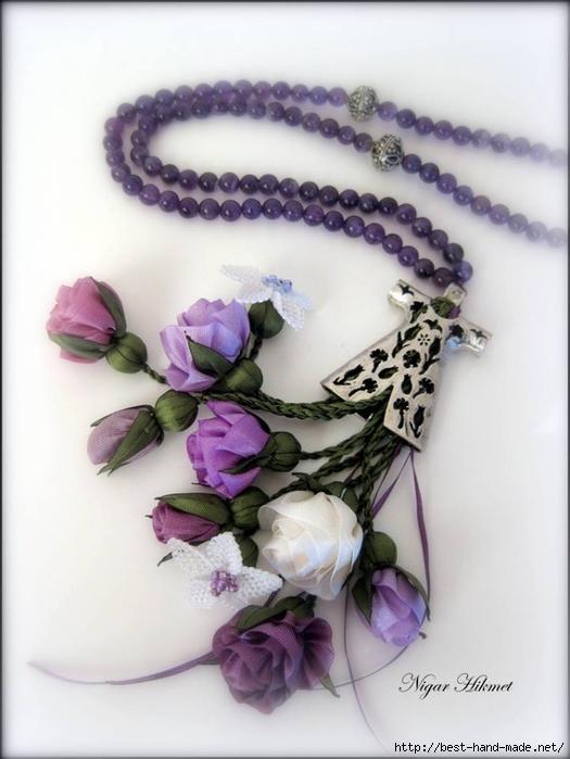 Цветы из кружев своими руками