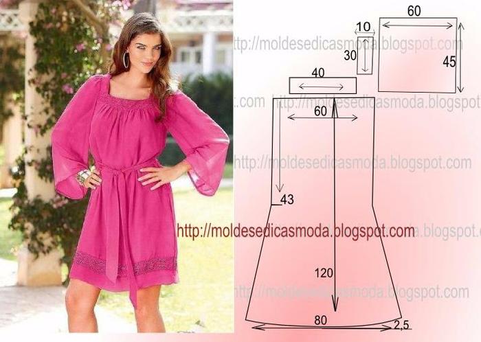 Сшить летнее платье фото и выкройки 68