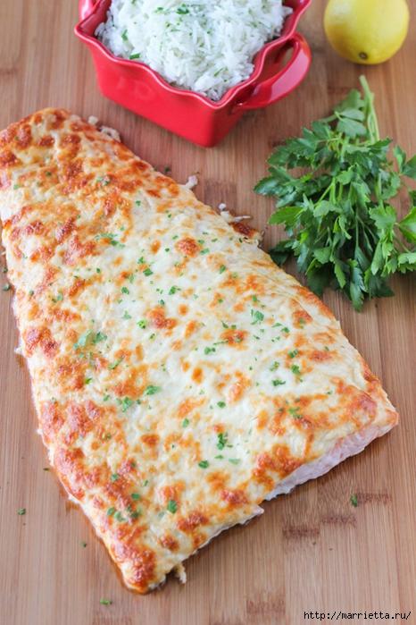 Запеченный лосось под сырной шубкой (7) (466x700, 306Kb)