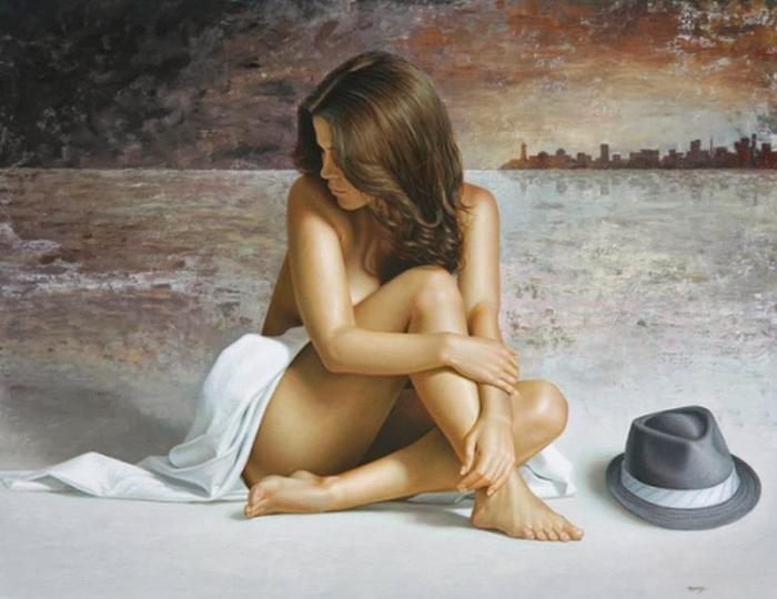 современные картины и рисунки голых женщин-оо2
