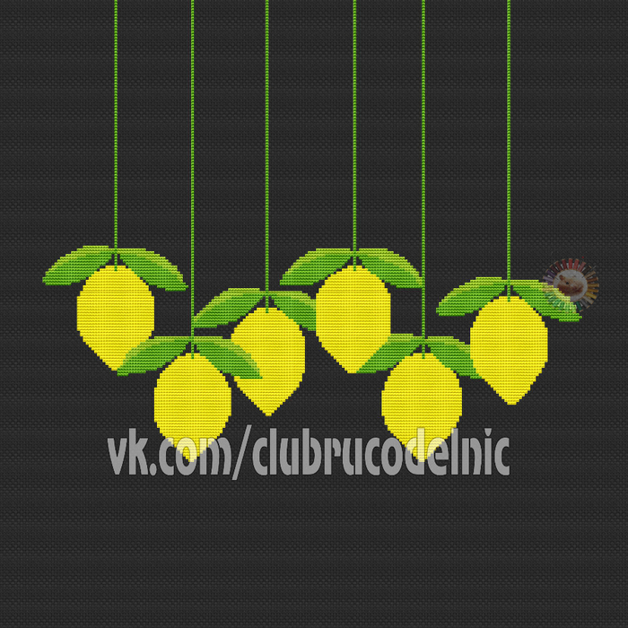 Pillow with lemons (700x700, 431Kb)