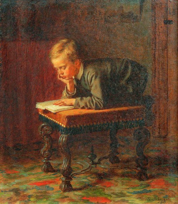 1Eastman_Johnson_-_Reading_Boy (612x700, 109Kb)