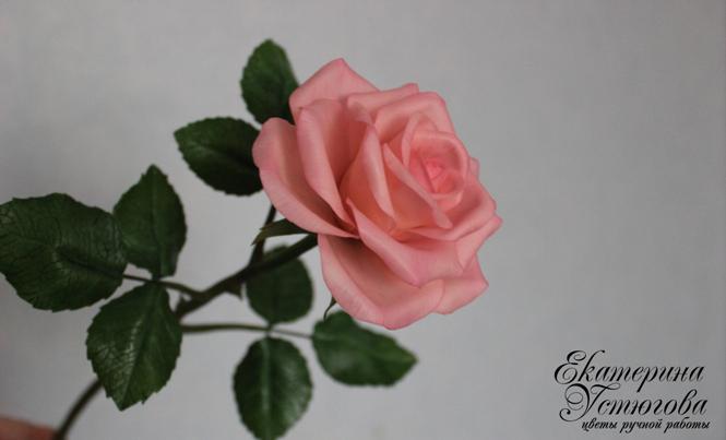 Розы из глины полимерной мастер класс