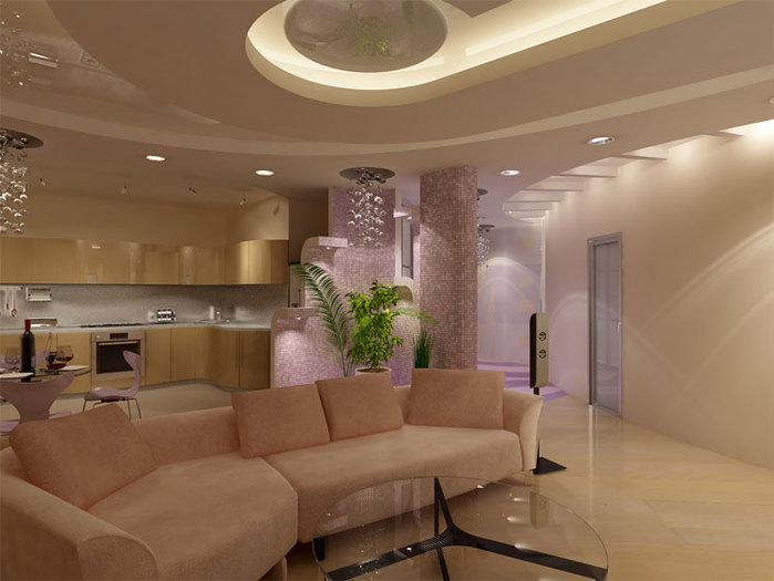 alt=Современный дизайн гостиной комнаты