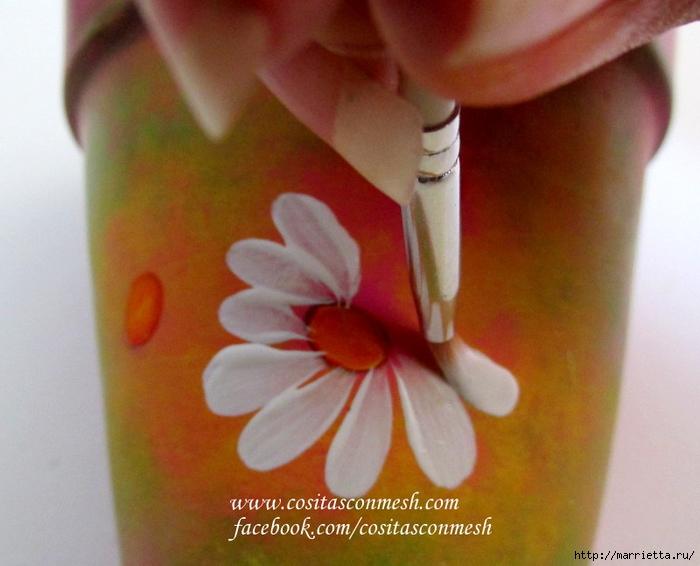 Ромашки на цветочном горшке. Идея росписи (4) (700x566, 240Kb)